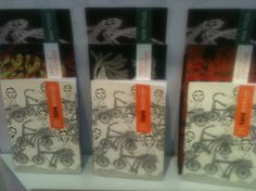 Catalogs designed by Tara Books looking beautiful displayed all together @Book_Fair #fbf12