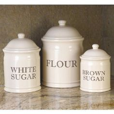 English Baker's Stoneware Canister, CHEFS Essentials Set,$99.95