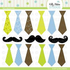 tie and mustache. for water bottles