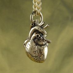 Anatomical heart pendant.