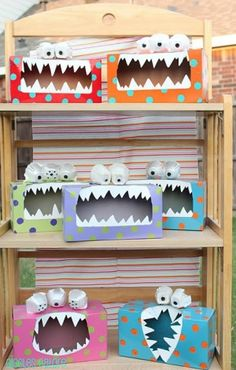 valentine box, monster party, valentine day, monster crafts, halloween crafts