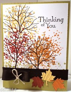 FALL BRANCH OUT Card Kit made with Stampin Up products