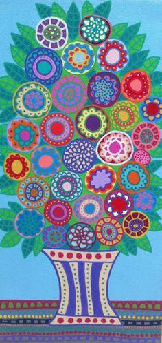 Kerri Ambrosino Art NEEDLEPOINT Mexican Folk by kerriambrosino, $22.99