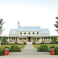 Southern Farmhouse. idea hous, dream homes, southern homes, farm style, southern live, dream houses, wrap around porches, front porches, farm houses