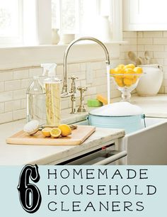 6 DIY Homemade Household Cleaners via Tipsaholic.com #cleaning #recipes #house