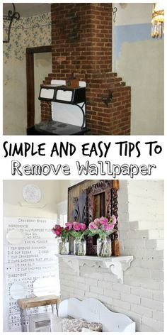 The Best Way to Remove Wallpaper #WallpaperRemoval, #DIYRemovingWallPaper, #DIYWallPaperRemovableTutorial