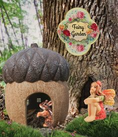 Cozy up in our acorn fairy house.