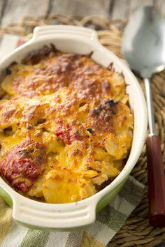 Paula Deen Pimento Cheese Potato Gratin