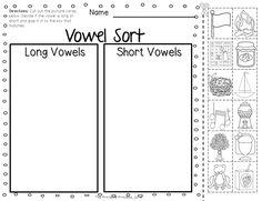 vowels kindergarten, long vowel activities, teaching long and short vowels, teaching vowels, teaching long a vowel sound