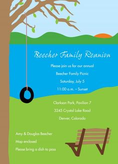 family reunion ideas | Family reunion wording ideas.