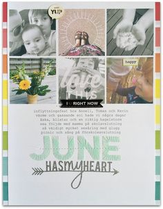 #papercraft #Scrapbook #layout.  June has my heart by Rockermorsan at @studio_calico