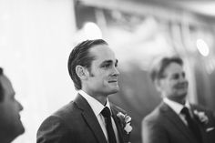 When the groom sees the bride for the first time - such a special moment! Photo by Jonathan Connolly Photography
