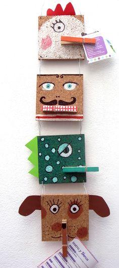 .:* L - Adorable take on a traditional bulletin board -- animal faces with clothes pins for hanging notes.  El hada de papel: Más que Deco / More than a deco / Mehr als nur Deko