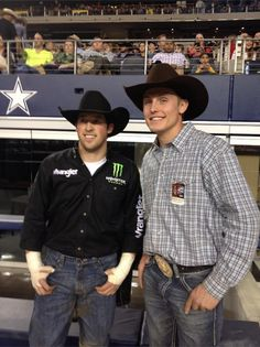 LJ Jenkins and Tuf Cooper at the 2013 PBR Iron Cowboy IV!!!