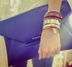 obsessed w/ this royal blue givenchy clutch