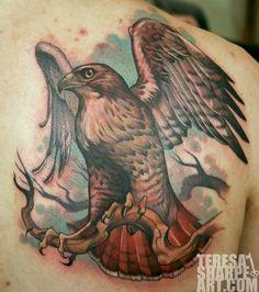Teresa Sharpe - Red Tail Hawk Tattoo
