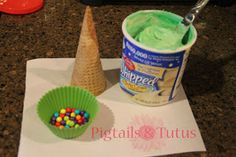 Instead of a gingerbread house, have your little kid decorate a Christmas tree. Frost an ice cream cone with green-dyed frosting and decorate with candy.