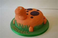 Dinosaur birthday cake.