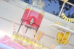 Pink Lemonade party...more baby girl shower ideas