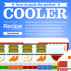 Here are a few tips and tricks to help you pack the perfect cooler! Download our free infographic here: http://www.recipe.com/blogs/cooking/pack-a-cooler-how-to-ten-things/?socsrc=recpin071712coolerinfographic