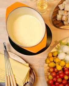 Fondue Party Rules. Rule 1: If a woman drops her bread in the fondue pot, she has to kiss every man at the table....