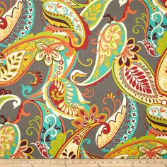 Covington Whimsy Paisley Mardi Gras fabric. love this for reupholstering my craigslist find sofa!