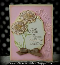 creation, card idea, stamp flower, field flowers, merced, 2012, stampin, mothers day cards, paper crafts