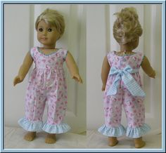 "Rosie Romper PDF pattern for 18"" Doll,"