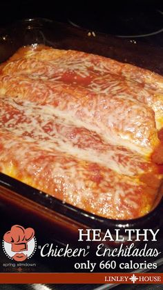 """Slim-Down: Healthy """"Chicken"""" Enchiladas! I can't tell you what a HUGE hit these were! (Honestly, they turned out even better then I thought they would!) and the portions are HUGE...for the 660 calorie investment you could eat 2 1/2 of these! (I could only eat 1 1/2 at dinner tonight! (Hubbs ate two and was full!)"""