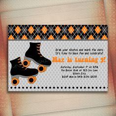 birthday parti, roller skate, birthdays, skate parti, birthday invitations, 8th birthday, 4th roller, skate birthday, parti idea