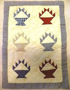 Stunning Sm Antique Primitive Quilt, Hand made, early to mid 1900's,13x18 Wall Hanging, eBay, jjapril22