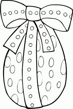 desenho Ovo de Pácoa com laço, colorir Ovo de Pácoa com laço