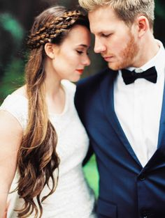Beautiful boho braided bridal hairstyle