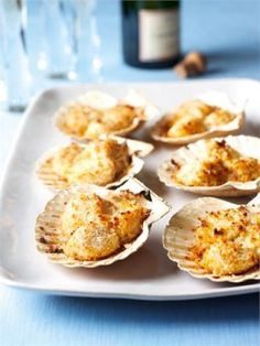 scallops on the shell