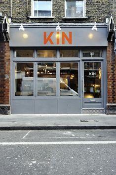 Kin restaurant storefront, London