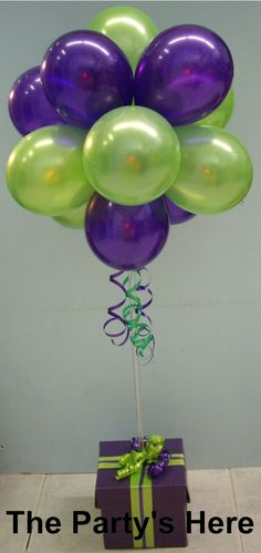 Balloon topiaries on pinterest balloon topiary balloon for Air filled balloon decoration ideas