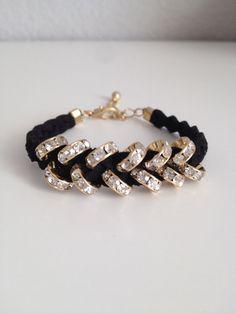 braided crystal bracelet