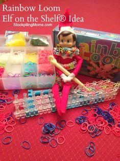 Check out our fun Rainbow Loom Elf on the Shelf Idea! #ElfOnTheShelf #Christmas