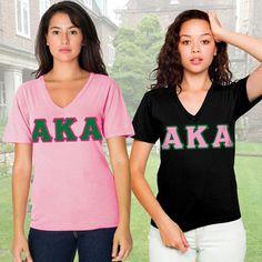 Alpha Kappa Alpha Sorority Horizontal V-Neck Package $46.95 #Greek #Sorority #Clothing #AKA #AlphaKappaAlpha
