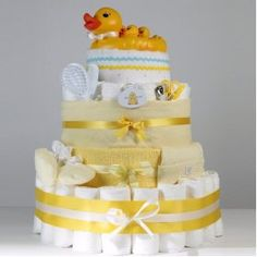 Baby Duckies Diaper Cake