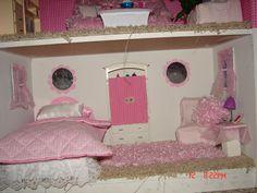DIY Barbie House from a shelf - A girl and a glue gun