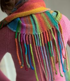 Back of Color-On-Color Scarf! Very fun - inspiration