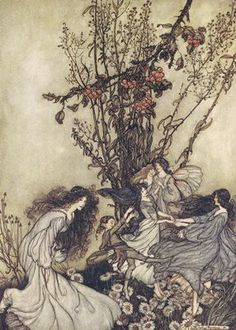 ARTHUR RACKHAM, 1867 to 1939. Fairies.