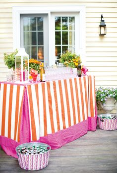 A festive drinks bar for your summer party