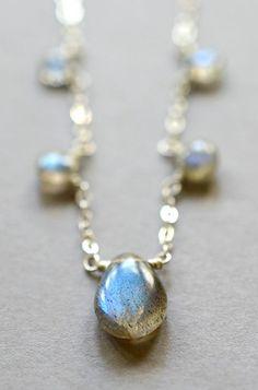 Labradorite necklace sterling silver