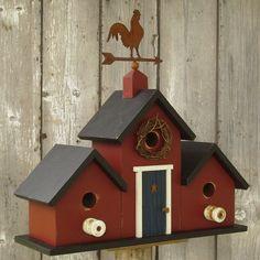 New 2012 Primitive Birdhouse Weather Vane by DoorCountyWoodworks