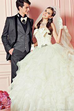 romantic wedding dress barbie bridal gowns