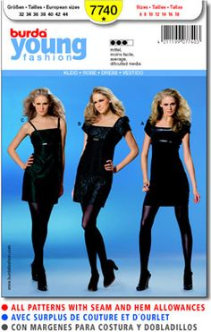 Pattern: burda young fashion 7740  Size: 6-18  Availability: OOP  Condition: Uncut, Factory Folded  Swapper: Konnie Kapow  Will swap for: patterns, fabric,trims/ notions, buttons, books and more...