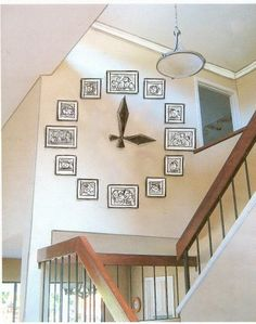 Picture Wall Clock ~ Big statement for a Big entry/stairwell!  Gorgeous!  ♥
