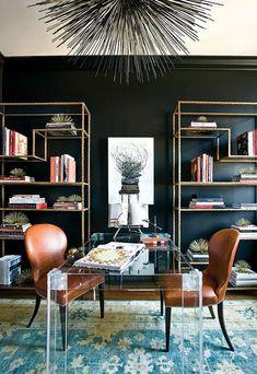 interior design, design homes, office designs, interior office, black walls